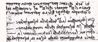 scrittura leonardo