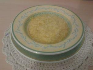 Riso con crema di zucca e patate