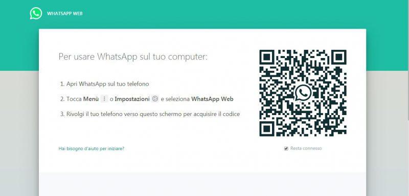 WhatsApp Web GUIDA