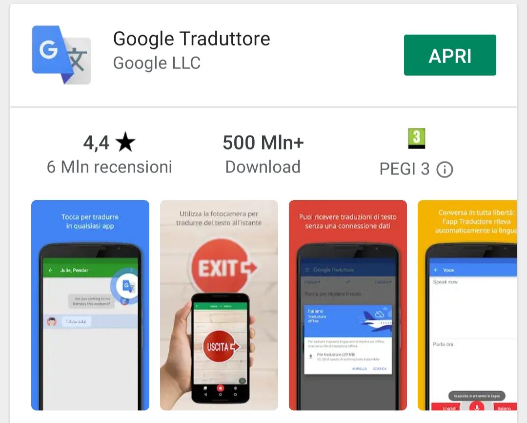 App Google Traduttore