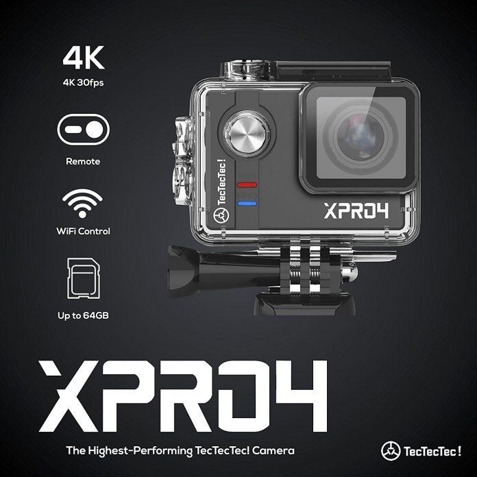TecTecTec XPRO4 Sport Camera 4K Ultra HD è una macchina fotografica paragonabile alla Gopro ma ad un prezzo piccolo piccolo