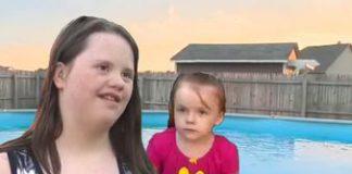 Ragazzina con la Sindrome di Down salva la sorellina che stava annegando