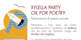 Xylella party. Oil for poetry