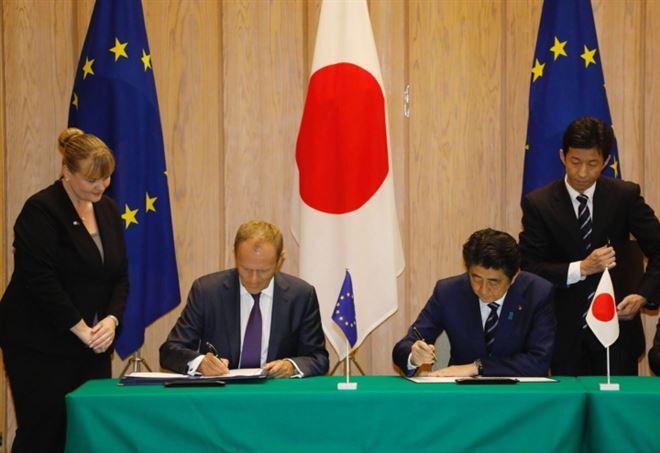 Tokyo: firmato accordo di libero scambio Ue-Giappone