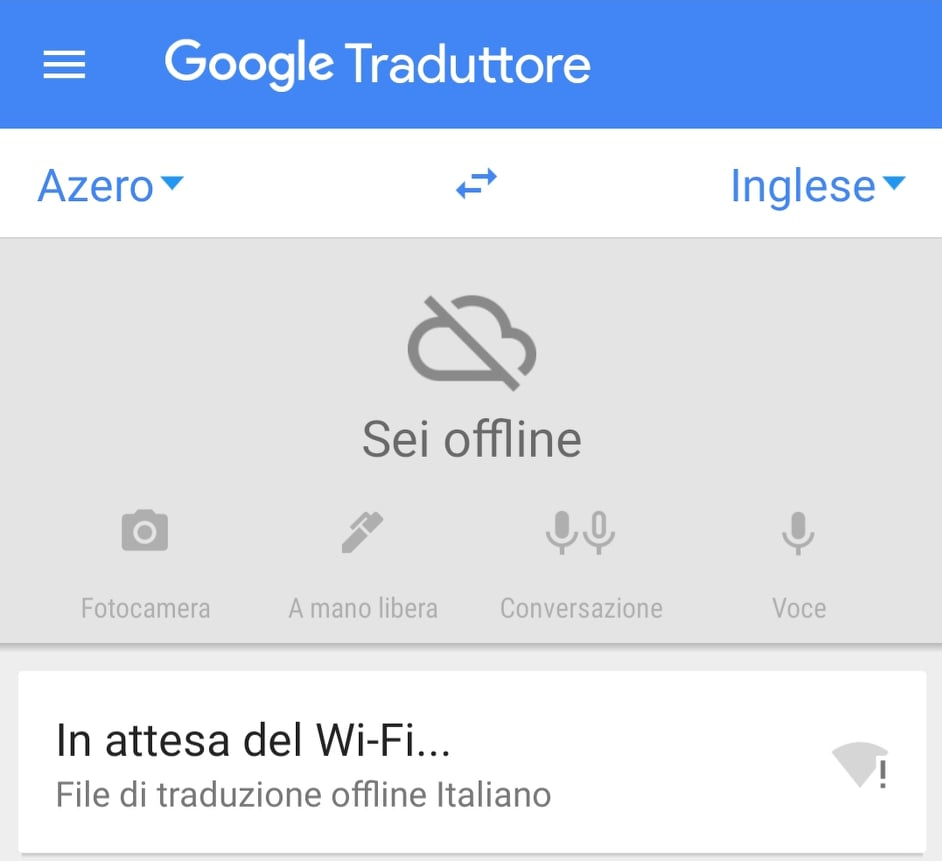 app goggle traduttore senza internet