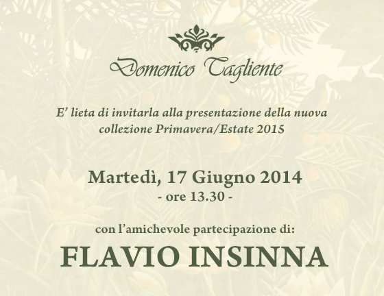 Spettacolo e tv : A Pitti uomo Domenico Tagliente presentazione collezione 2015