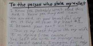"""Turista derubato a Venezia scrive al ladro: """"Sto morendo"""