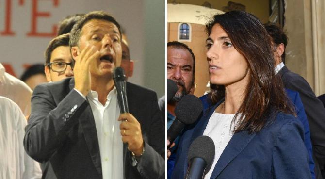 Scontro Renzi-Raggi sui fatti Atac