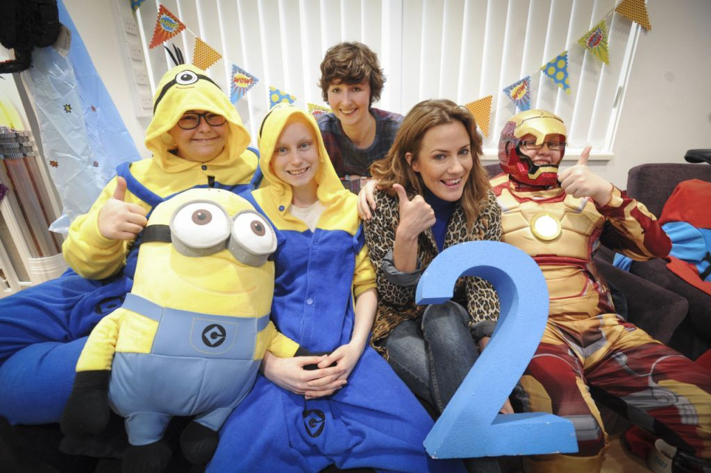 25/02/14 TCT unit's second birthday with Caroline Flack