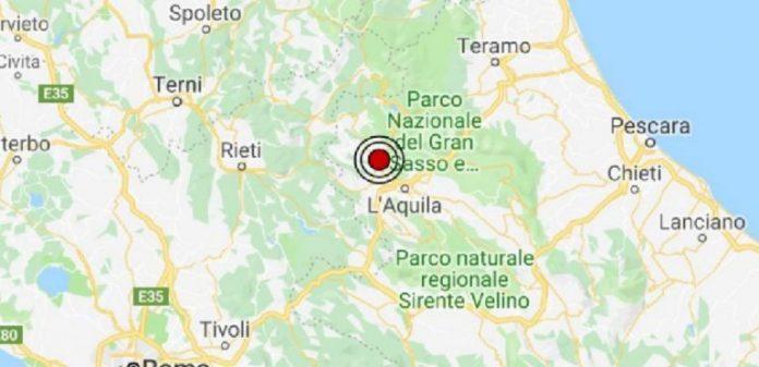 Abruzzo: scossa di terremoto di magnitudo 3.6