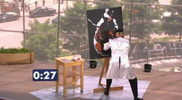 Westry il mago della pittura: dipinge un quadro in 90 secondi