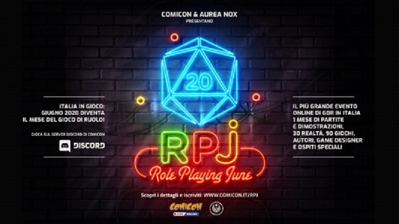"Comicon – ""RPJ – Role Playing June"", il più grande evento on"