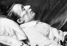 Giacomo Leopardi sul letto di morte