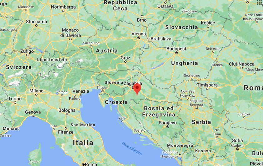 Croazia E Slovenia Cartina Geografica.Croazia Cartina Geografica Politica